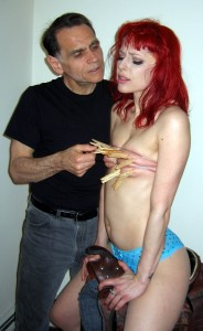 Clothespin tit torture