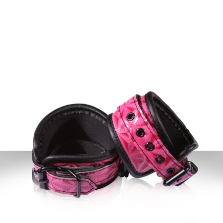 Sinful Wrist Cuffs in Pink by NS Novelties